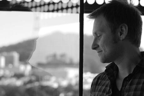 James J. Siegel looks at a window